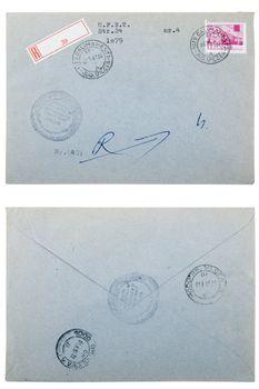 old envelope, correspondence concept