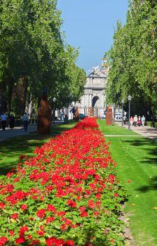 The Park Buen-Retiro in Madrid Cirty, Spain