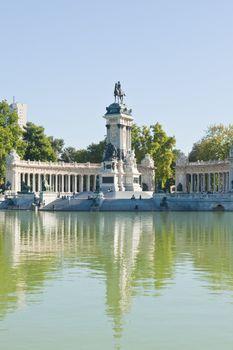 The Retiro Park in Madrid City, Spain