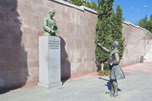 sculpture in front of Bullfighting arena Plaza de Toros i