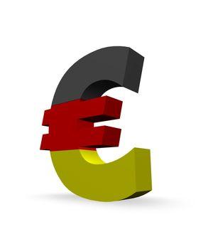 euro symbol in german colors