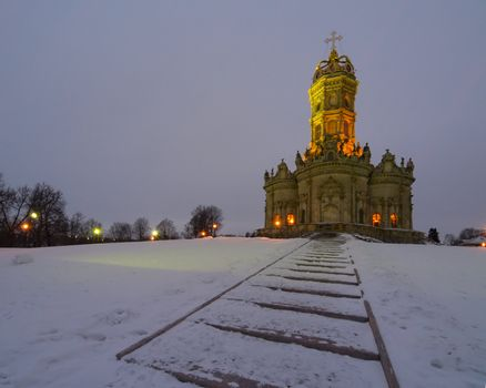 Russian church in baroque style
