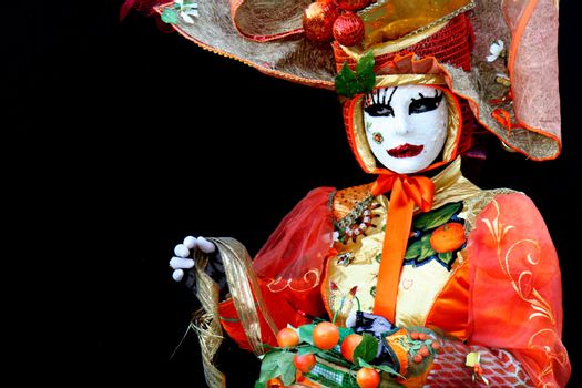A masked woman at Venice