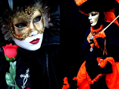 Two masked women at Venice