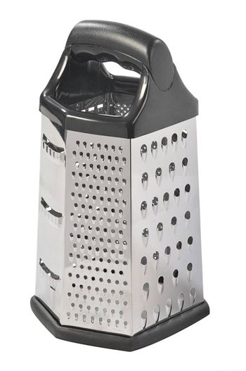 close up of cheese grater isolated on white background