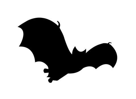 Bat silhouette in flight clipart