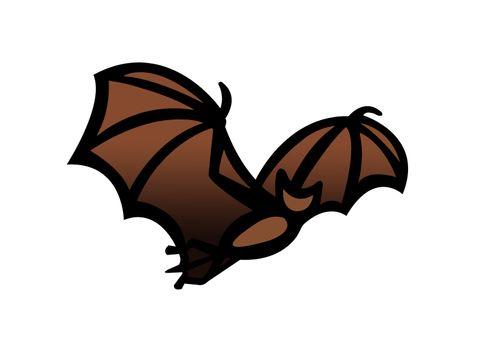 Bat in flight clipart