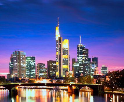 Frankfurt in the Evening