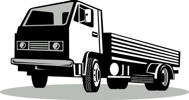 Truck viewed from a low angle