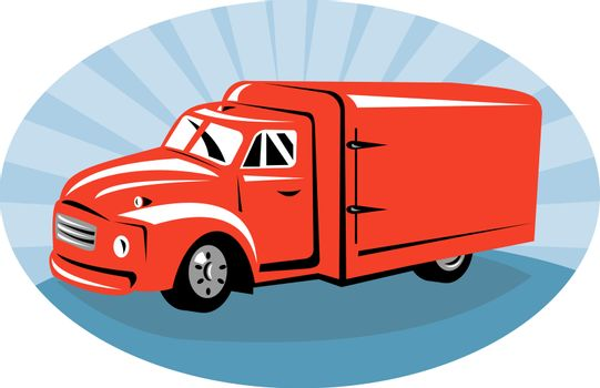 Delivery or camper van viewed from