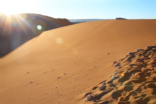 sand dune at the Valle de la Luna (Moon Valley) in Atacama desert, Chile
