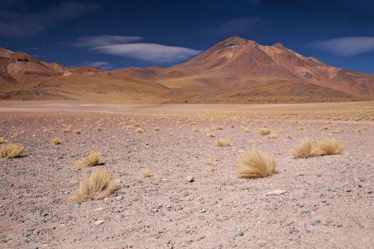 volcano Miniques in Atacama desert, Chile