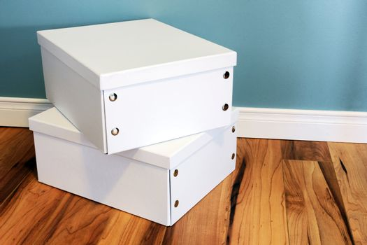 Neat white boxes