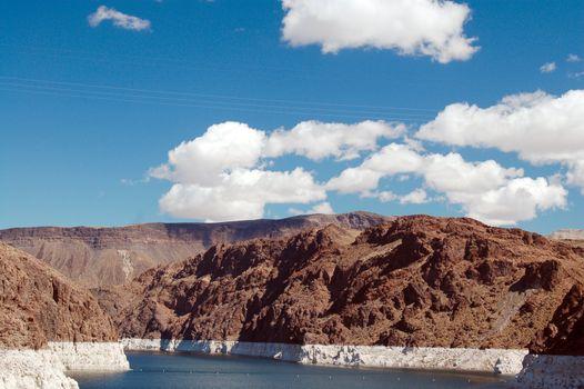 clouds over Lake Mead Las Vegas