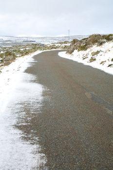 snow on asphalt