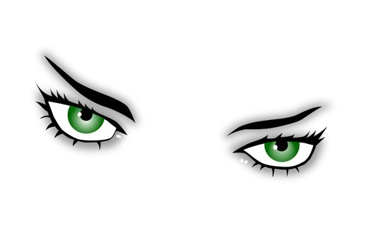 green eyes of a beauty