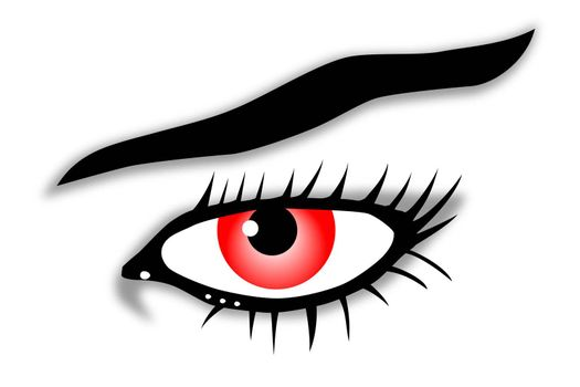 red eye illustration