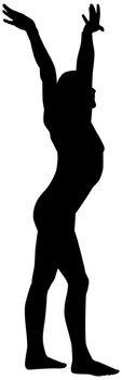 woman do gymnastics