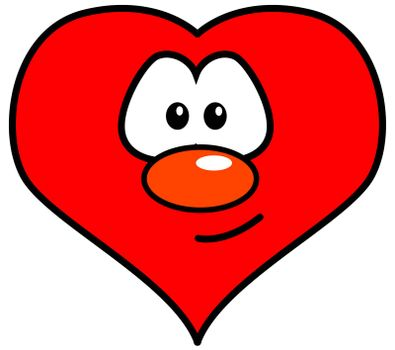 heart with comic face