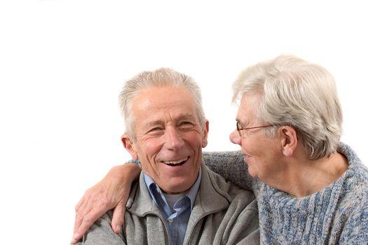 Older couple having a laugh