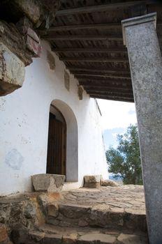 open door of small chapel