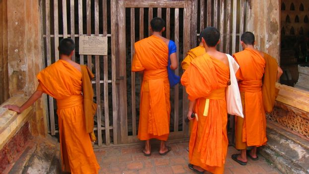 monks at the gate