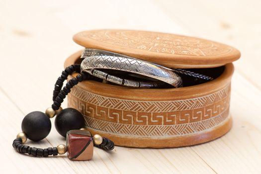 clay casket jewellery