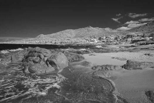 Corsica Sea viewed in Infrared, France
