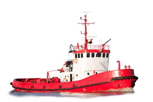 Isolated Tug Boat