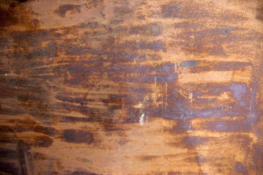 Old rusty iron plates