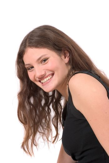 beautiful teenager with a happy smile