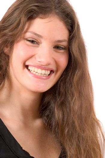 Beautiful young woman with a gorgeous smile