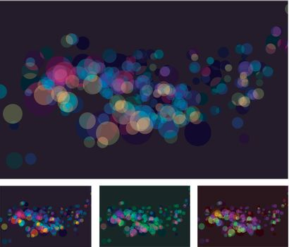 Vector abstract lights bokeh effects