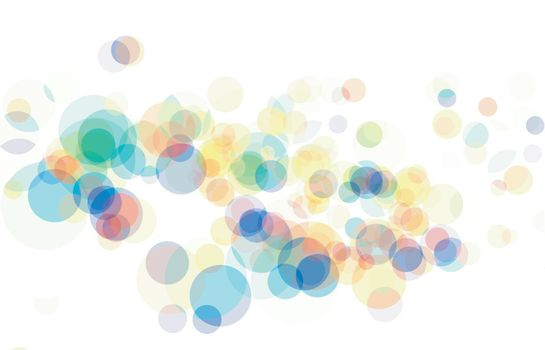Vector abstract lights bokeh effects on white