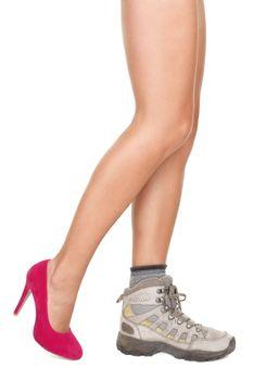 Shoes decision concept