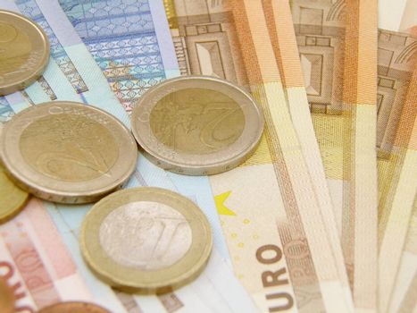 Euro currency - legal tender of the European Union - banknotes and coins