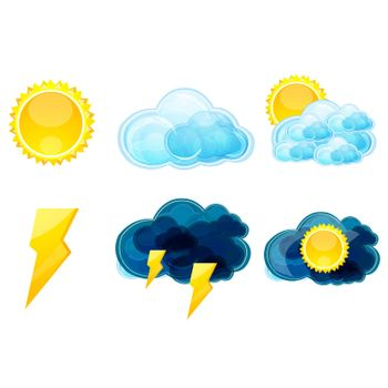 illustration of various types of weather