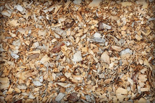 Waste of woodworking manufacture - sawdust background