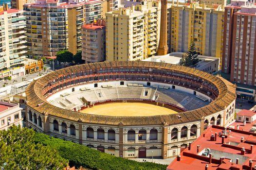 Bullring in the centre of Malaga