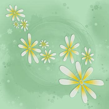 Abstract background from flower on a green background