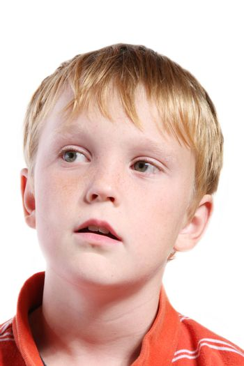 isolated boy child with expression