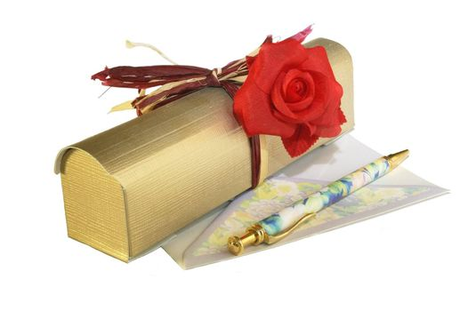 Gift and set for the letter.