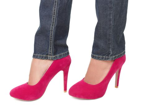 High heels and jeans