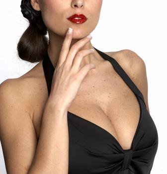 Sexy woman's neckline