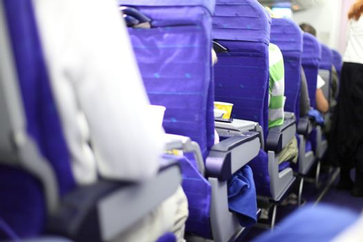 airplane seats in row