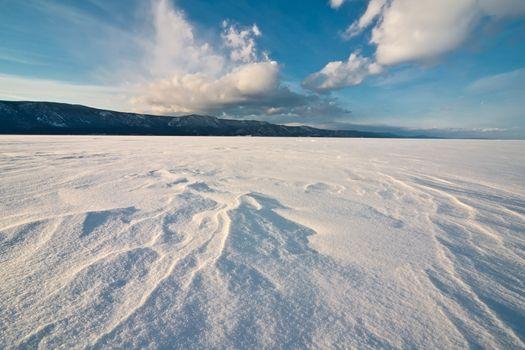 The frozen Baikal