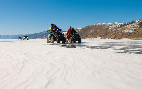Travel across winter Baikal