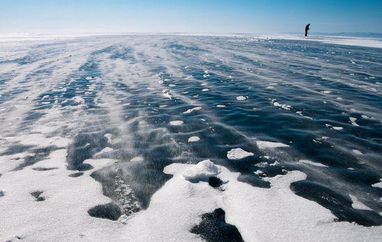 Shooting of winter Baikal