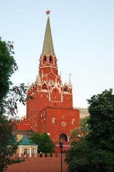 Troitsk tower of the Moscow Kremlin