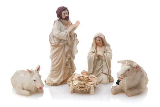 Ceramic nativity scene